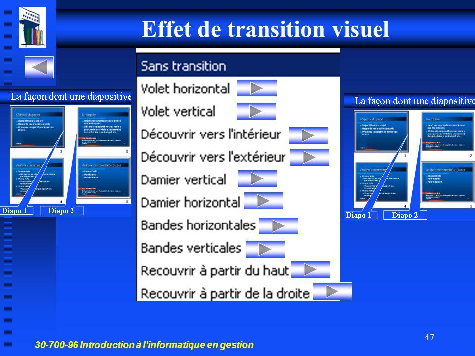 30-700-96 Introduction à l'informatique en gestion 46 Annexe