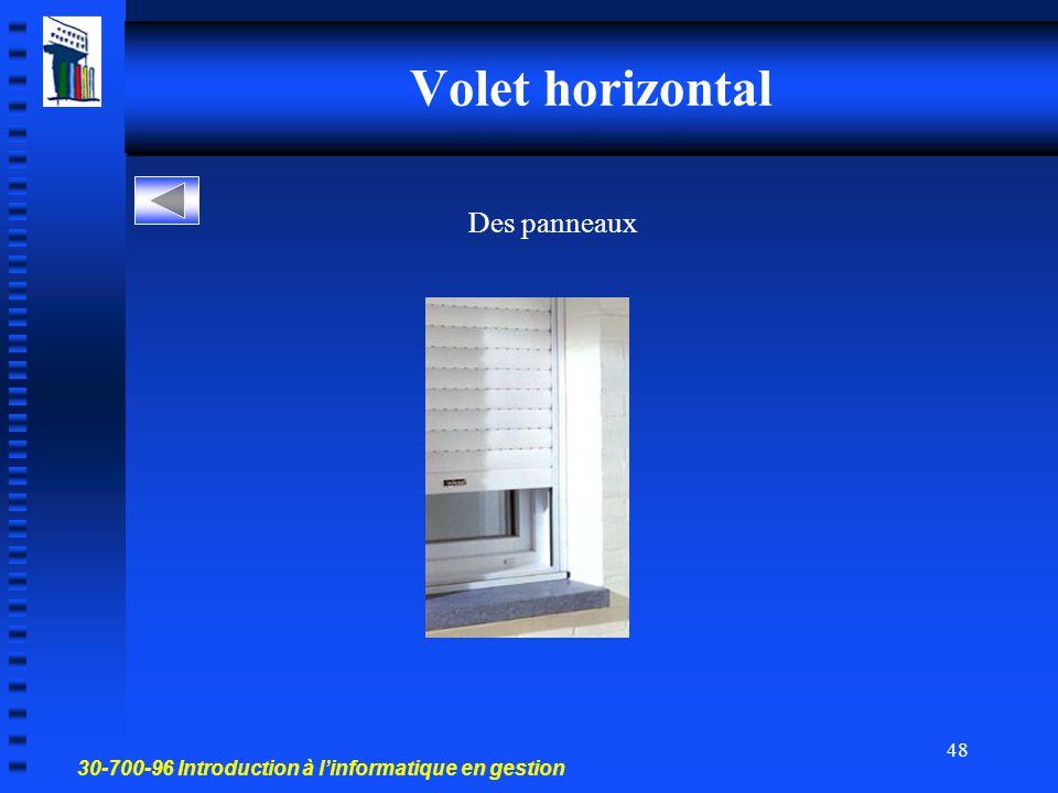 30-700-96 Introduction à l'informatique en gestion 47 Effet de transition visuel