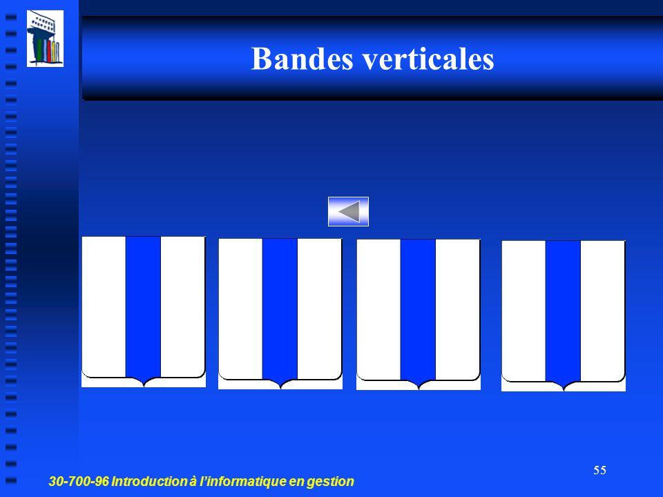 30-700-96 Introduction à l'informatique en gestion 54 Bandes horizontales