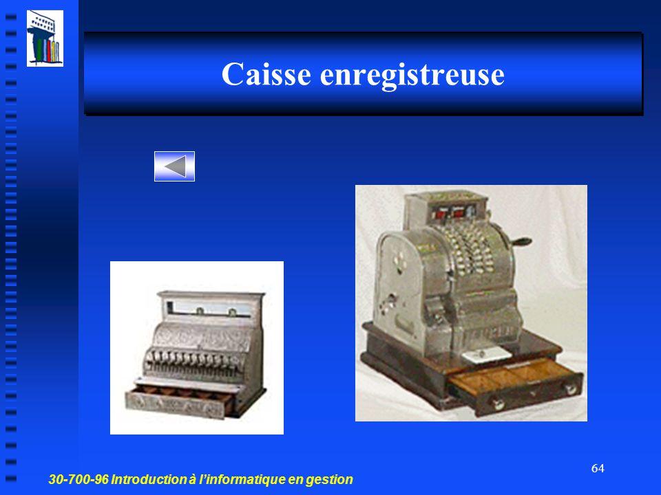 30-700-96 Introduction à l'informatique en gestion 63 Brise