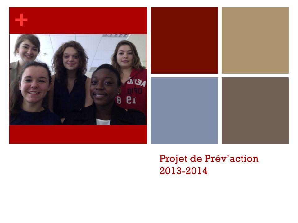+ Projet de Prév'action 2013-2014