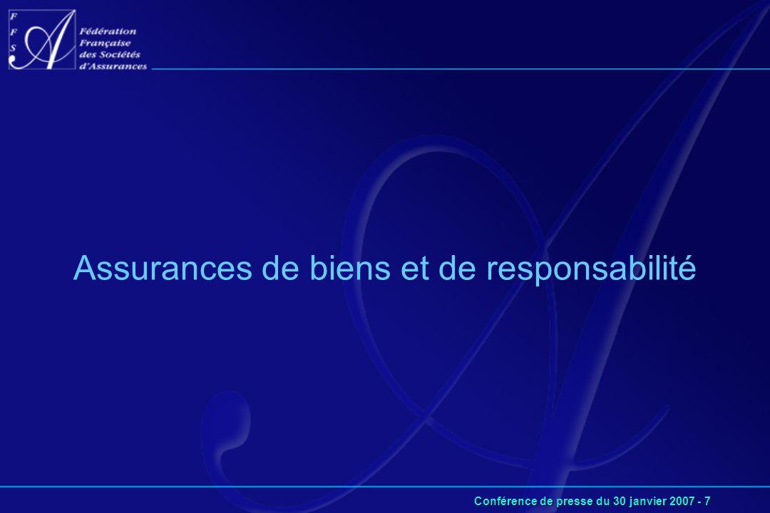 Conférence de presse du 30 janvier 2007 - 7 Assurances de biens et de responsabilité