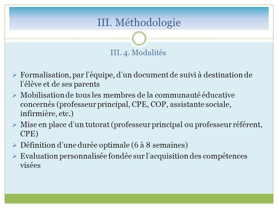 III.Méthodologie III. 4.