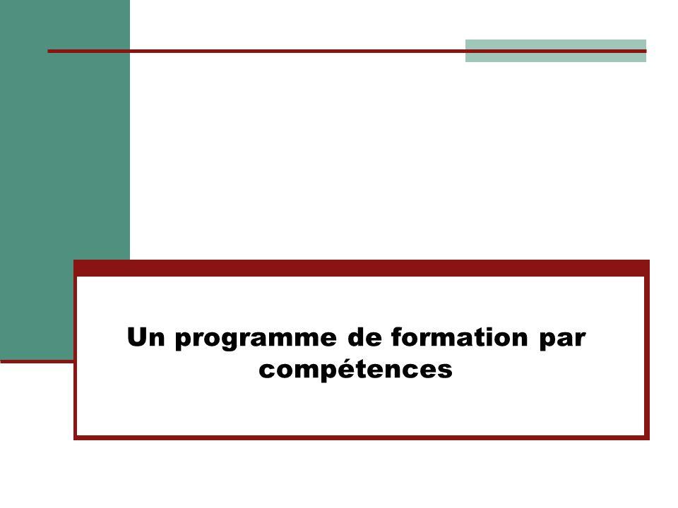 Un programme de formation par compétences