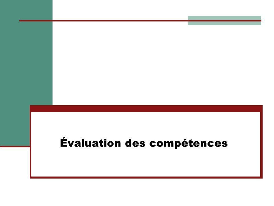 Évaluation des compétences