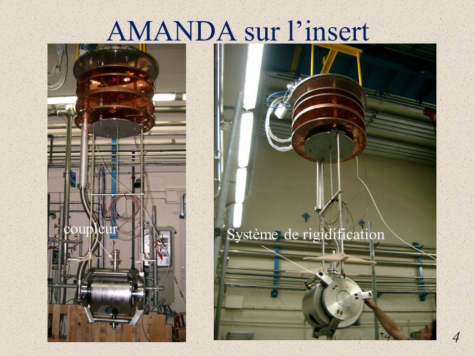 AMANDA sur l'insert Système de rigidification coupleur 4 4