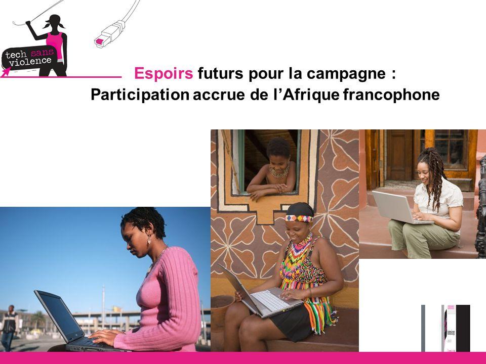 Espoirs futurs pour la campagne : Participation accrue de l'Afrique francophone
