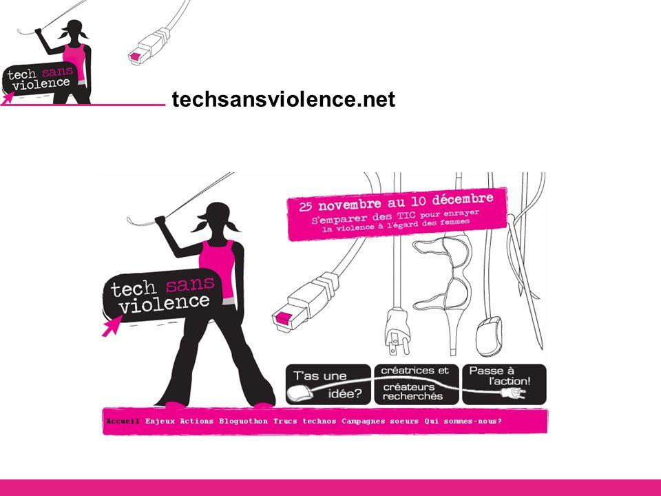 Problématique @ Campagne ciblée sur un sujet précis et en lien avec les TIC, ce qui revire de bord d emblée pas mal de femmes et de groupes de femmes @ Appropriation par le grand public