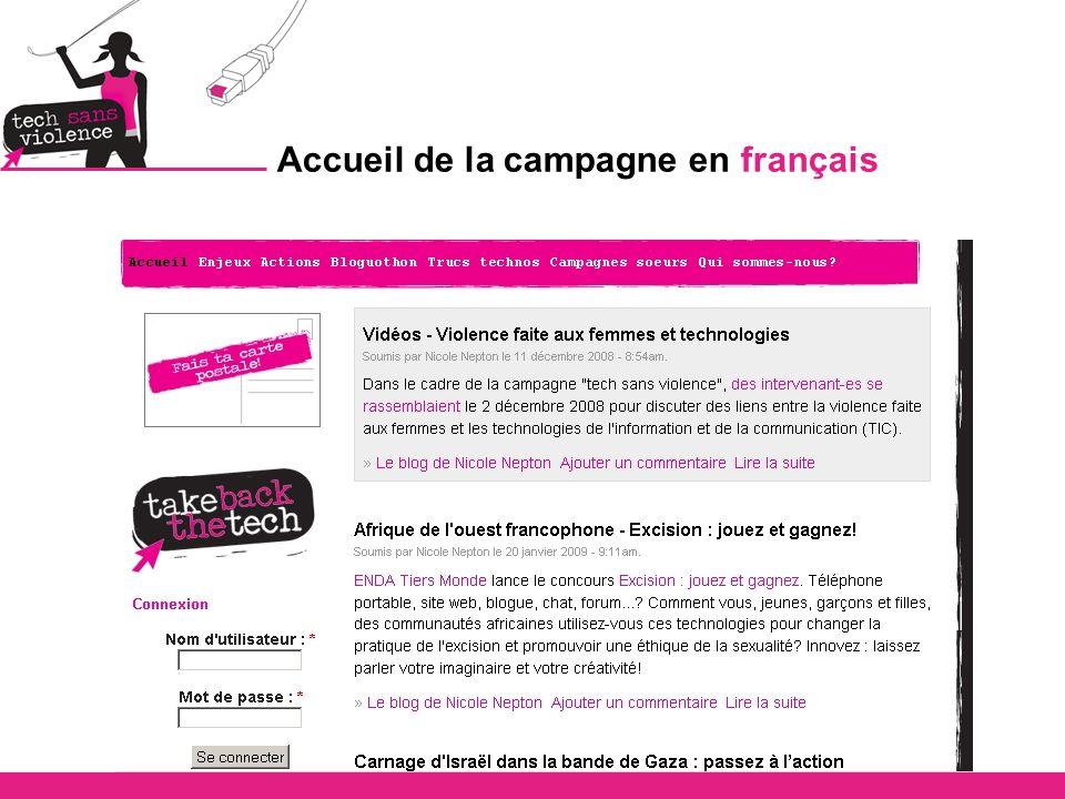 Accueil de la campagne en français