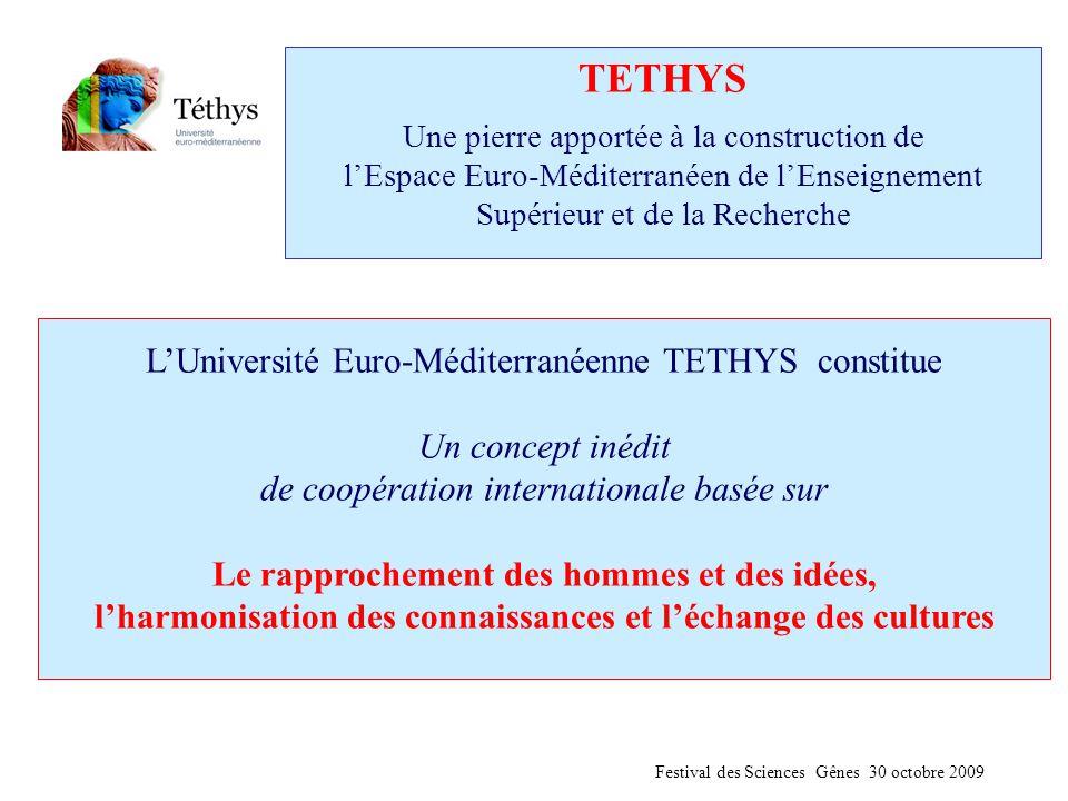 TETHYS Une pierre apportée à la construction de l'Espace Euro-Méditerranéen de l'Enseignement Supérieur et de la Recherche L'Université Euro-Méditerra