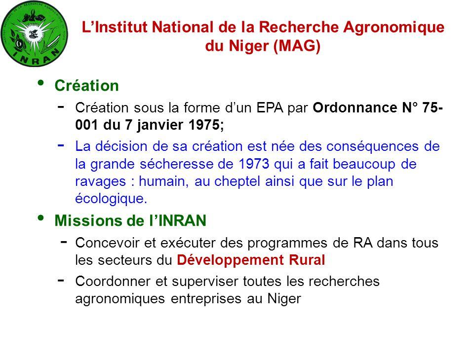 Création - Création sous la forme d'un EPA par Ordonnance N° 75- 001 du 7 janvier 1975; - La décision de sa création est née des conséquences de la gr