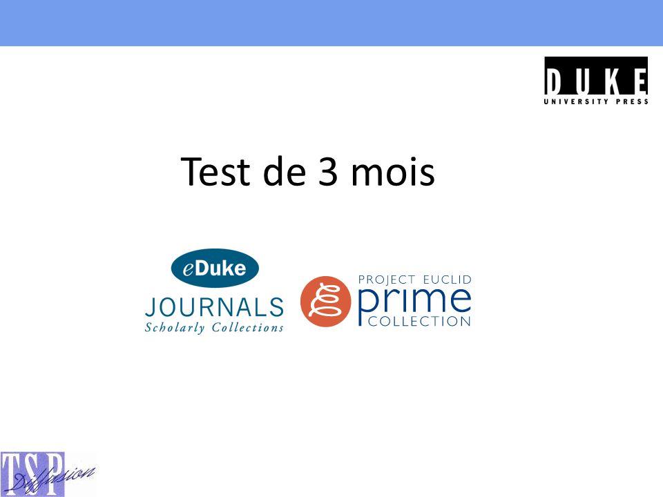 Test de 3 mois