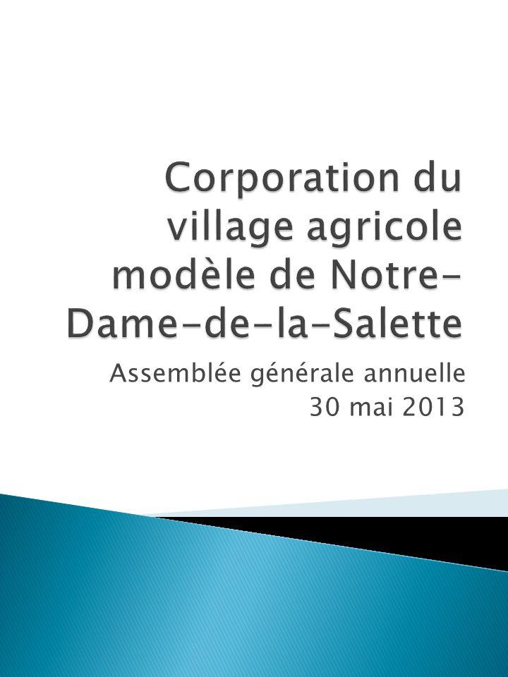 Assemblée générale annuelle 30 mai 2013