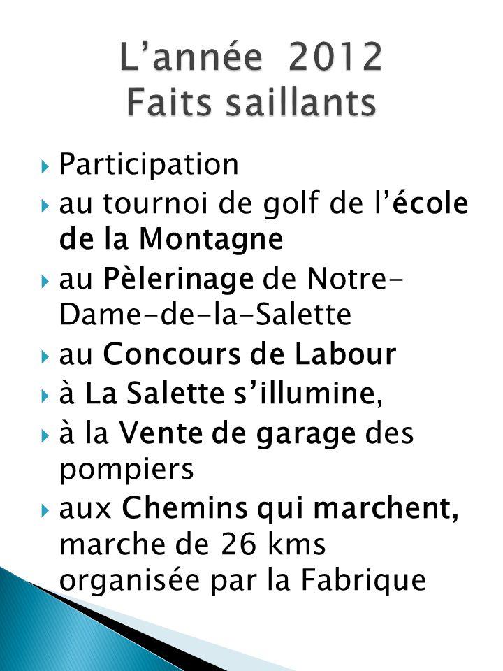 Merci aux citoyennes et aux citoyens de Notre-Dame-de-la-Salette et à tous nos partenaires.
