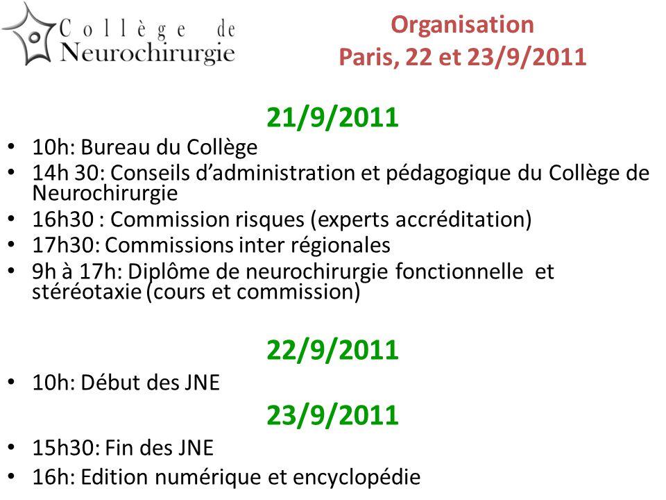 Programme JNE 22/9/2011 Thème principal Hydrocéphalie 9h30 Accueil JJ Moreau Evaluation E.