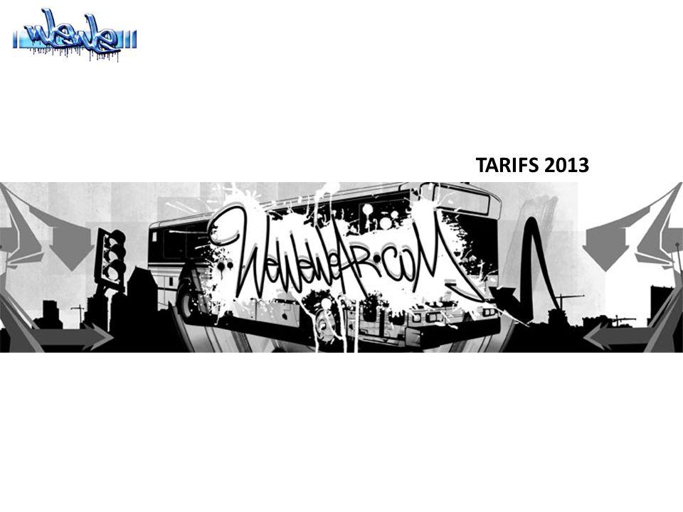 TARIFS 2013