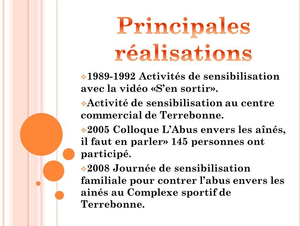 1989-1992 Activités de sensibilisation avec la vidéo «S'en sortir».