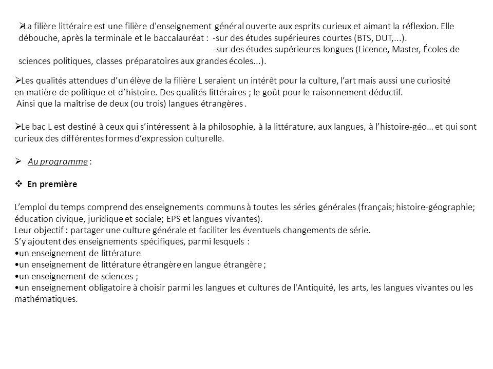 Matières Les matières du tronc commun Français 4 h 00 Langue Vivante 1 e et 2 e 4 h 30 Histoire – Géographie 4 h 00 E.P.S.