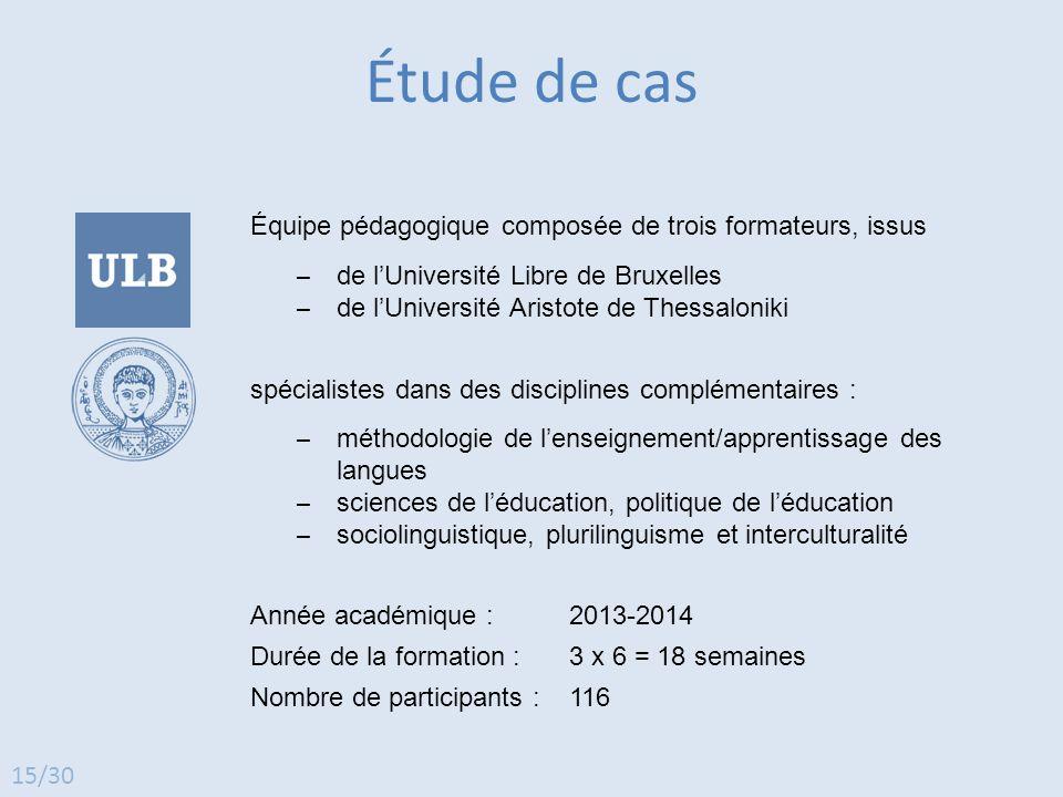 Équipe pédagogique composée de trois formateurs, issus ̶ de l'Université Libre de Bruxelles ̶ de l'Université Aristote de Thessaloniki spécialistes da
