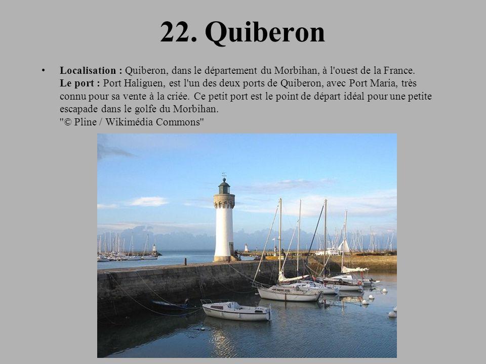 22.Quiberon Localisation : Quiberon, dans le département du Morbihan, à l ouest de la France.