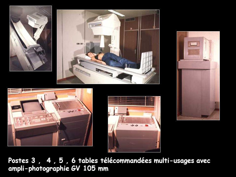 Postes 3, 4, 5, 6 tables télécommandées multi-usages avec ampli-photographie GV 105 mm