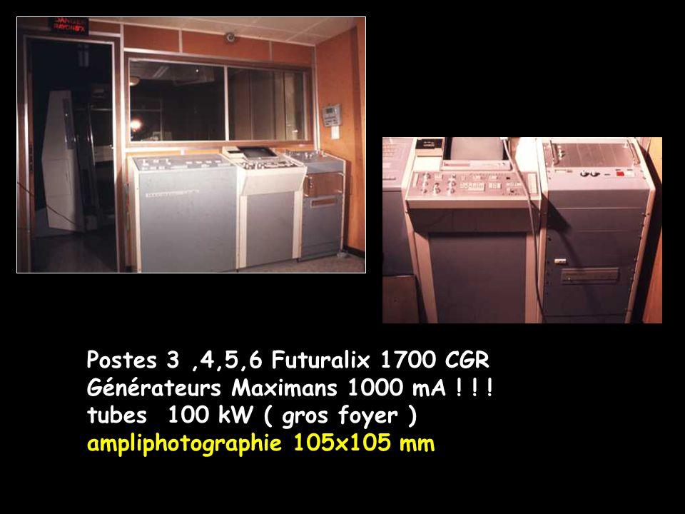 Postes 3,4,5,6 Futuralix 1700 CGR Générateurs Maximans 1000 mA ! ! ! tubes 100 kW ( gros foyer ) ampliphotographie 105x105 mm