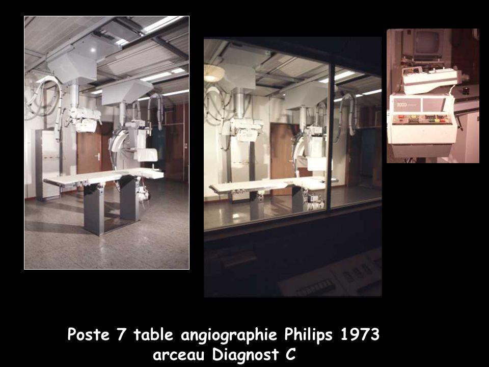 Poste 7 table angiographie Philips 1973 arceau Diagnost C