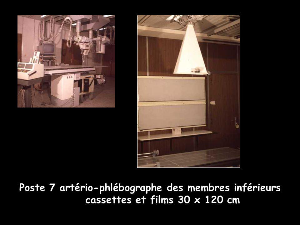 Poste 7 artério-phlébographe des membres inférieurs cassettes et films 30 x 120 cm