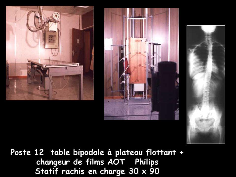 Poste 12 table bipodale à plateau flottant + changeur de films AOT Philips Statif rachis en charge 30 x 90