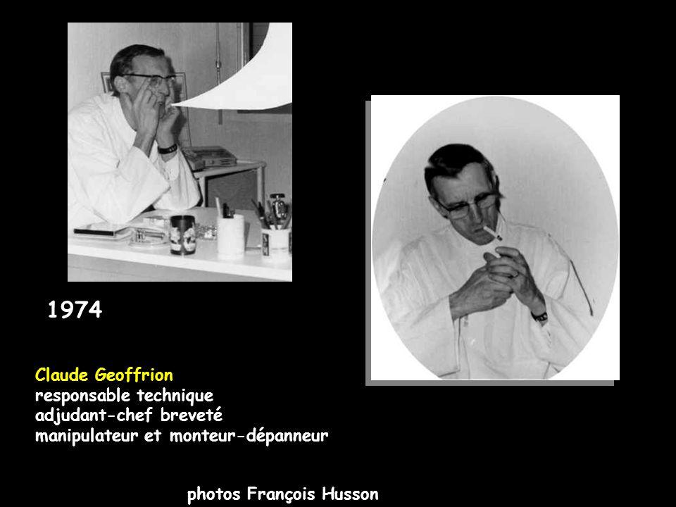 1974 photos François Husson Claude Geoffrion responsable technique adjudant-chef breveté manipulateur et monteur-dépanneur