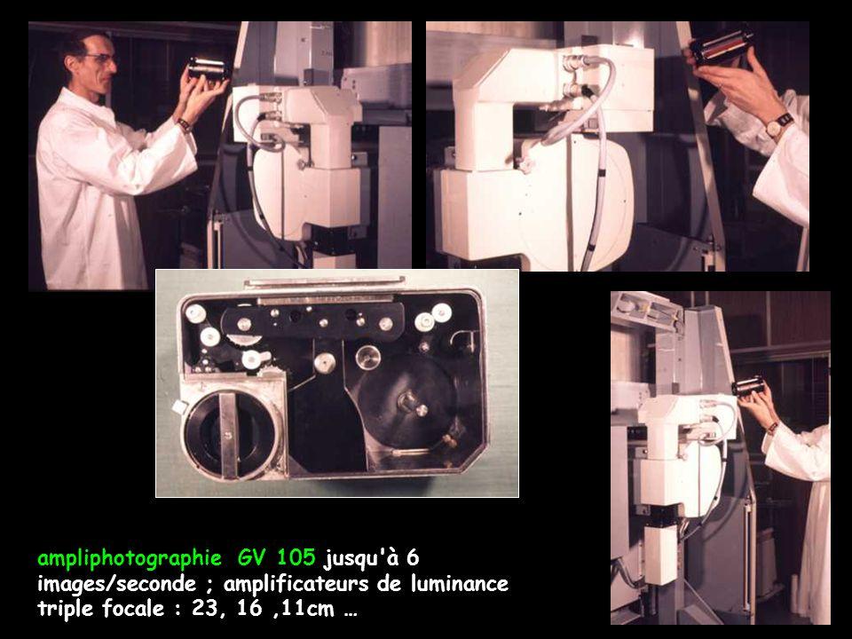 ampliphotographie GV 105 jusqu à 6 images/seconde ; amplificateurs de luminance triple focale : 23, 16,11cm …