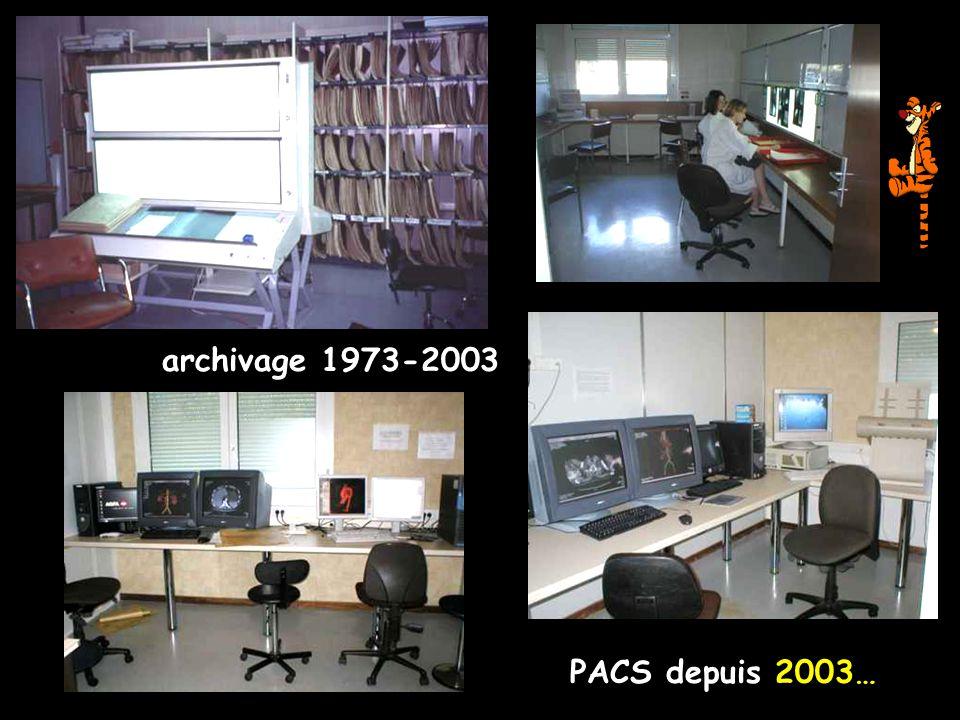 archivage 1973-2003 PACS depuis 2003…