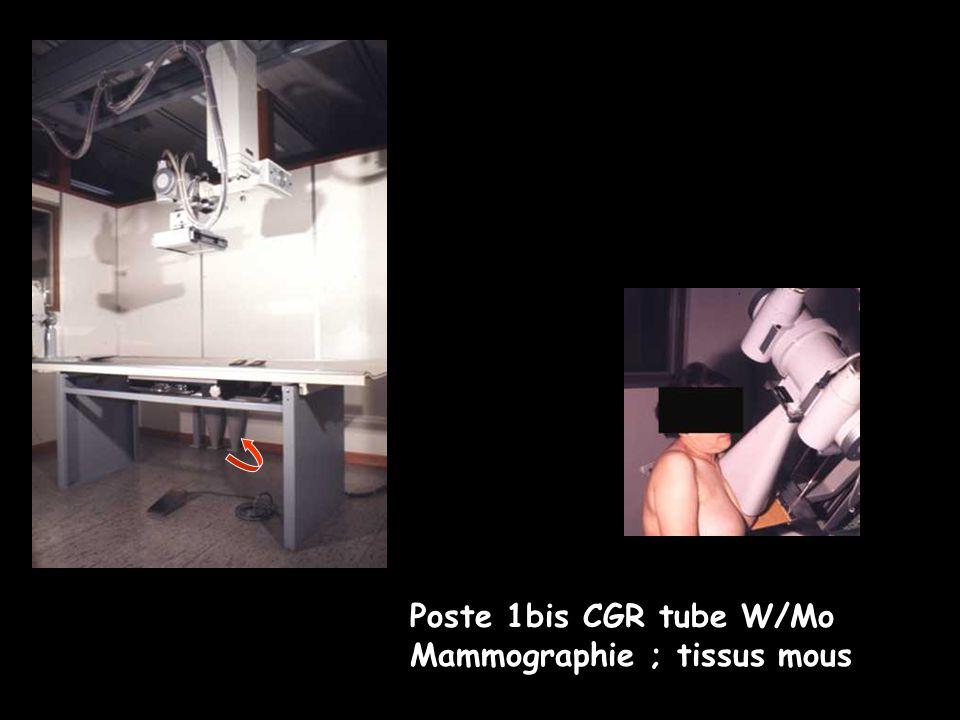 Poste 1 tube W/Mo 28 kV anode Mo