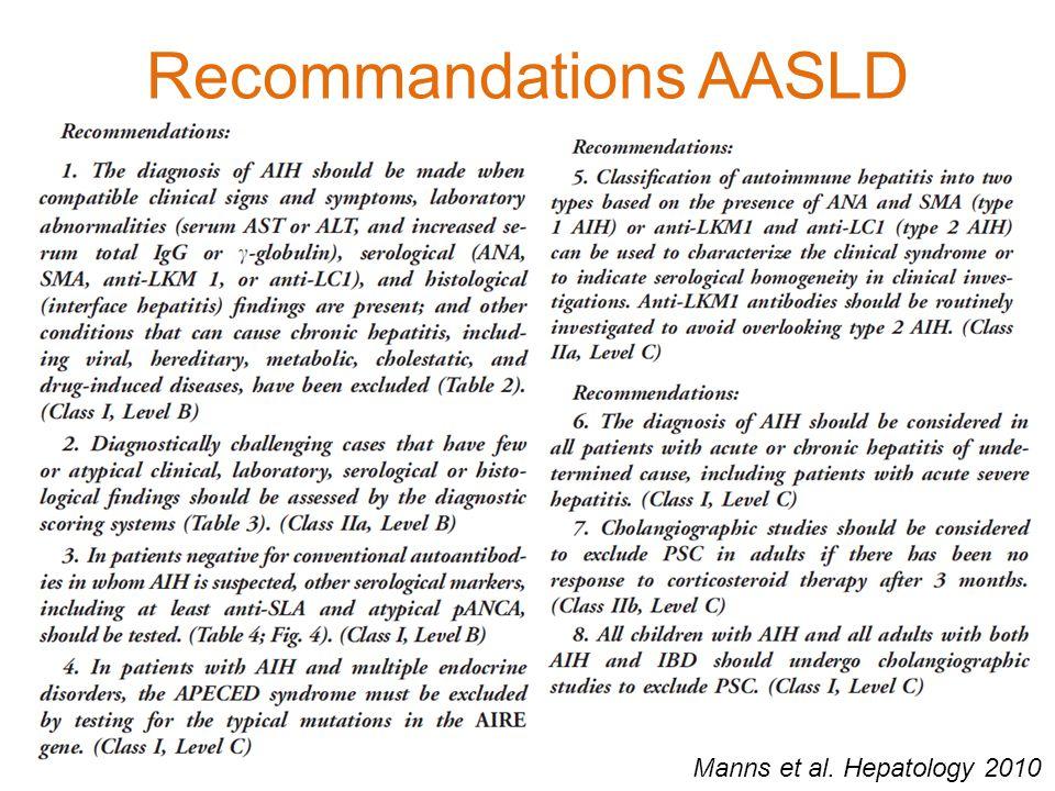 Recommandations AASLD Manns et al. Hepatology 2010