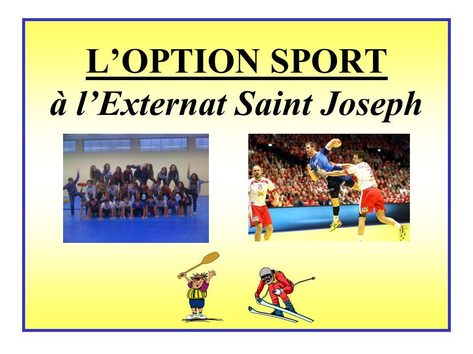 L'OPTION SPORT à l'Externat Saint Joseph