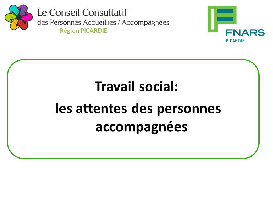Travail social: les attentes des personnes accompagnées Région PICARDIE