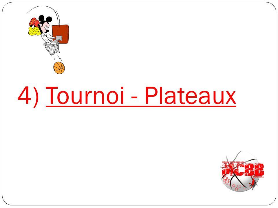 4) Tournoi - Plateaux