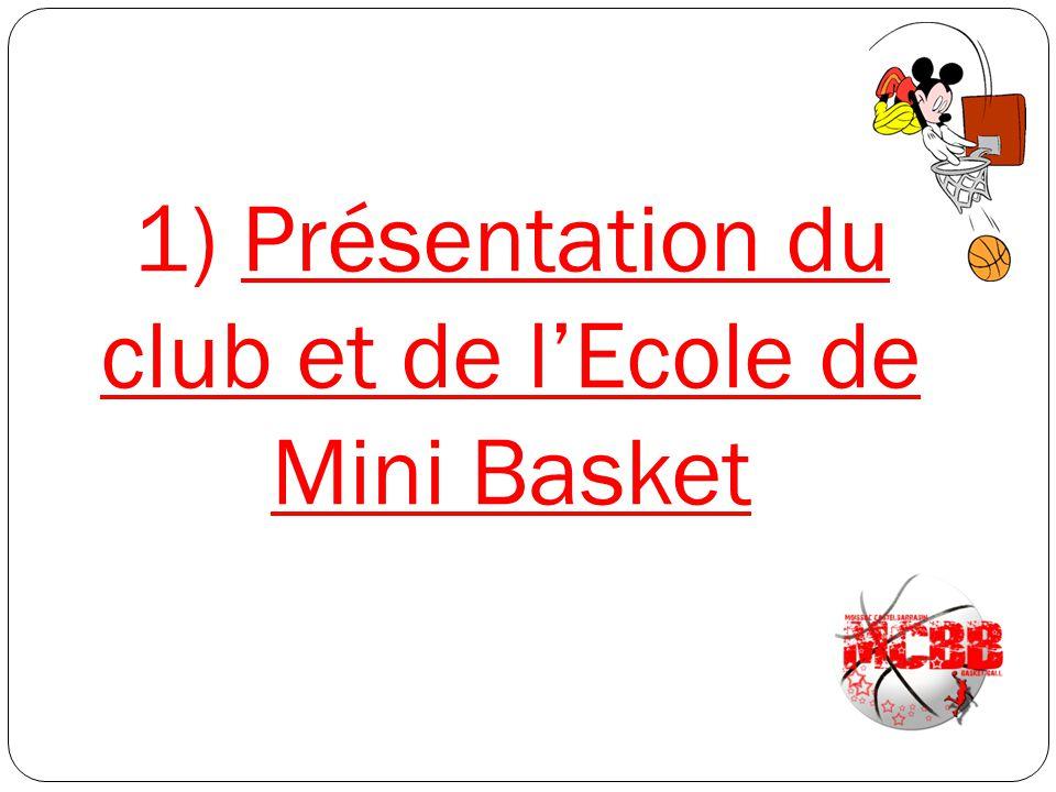 1) Présentation du club et de l'Ecole de Mini Basket