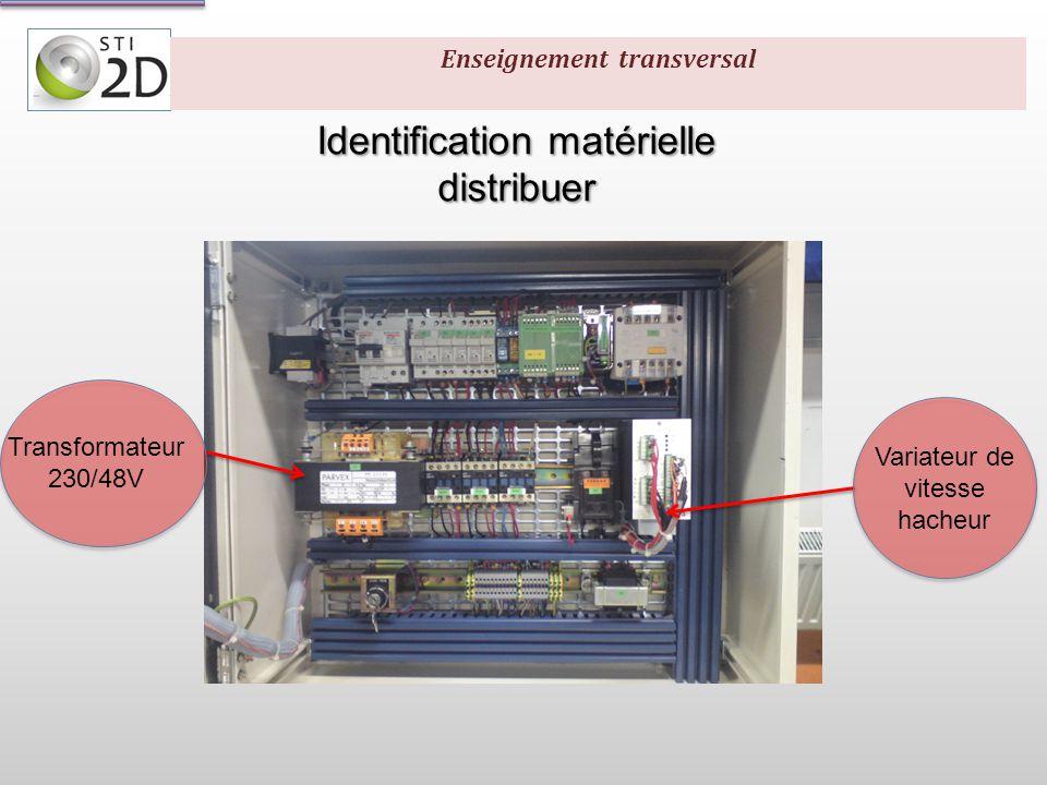 Identification schéma électrique (puissance) distribuer Distribuer Enseignement transversal