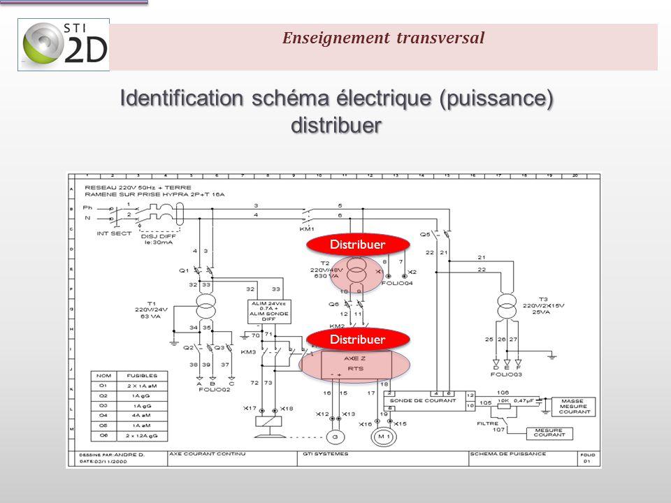 Identification schéma électrique (commande) Traiter Communiquer Enseignement transversal