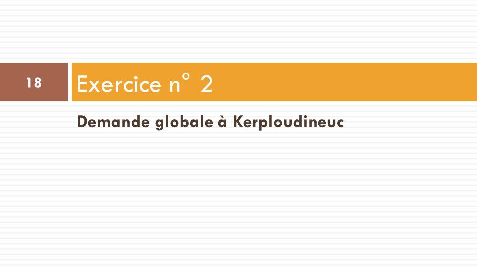 Demande globale à Kerploudineuc Exercice n° 2 18