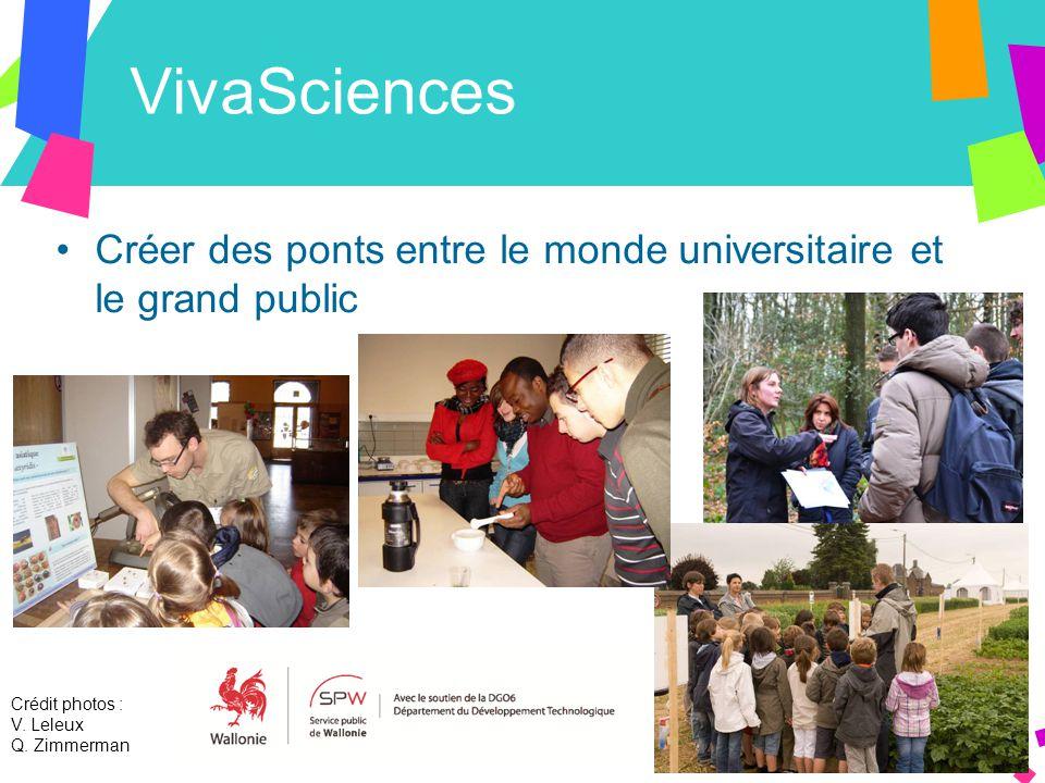 VivaSciences Créer des ponts entre le monde universitaire et le grand public Crédit photos : V.