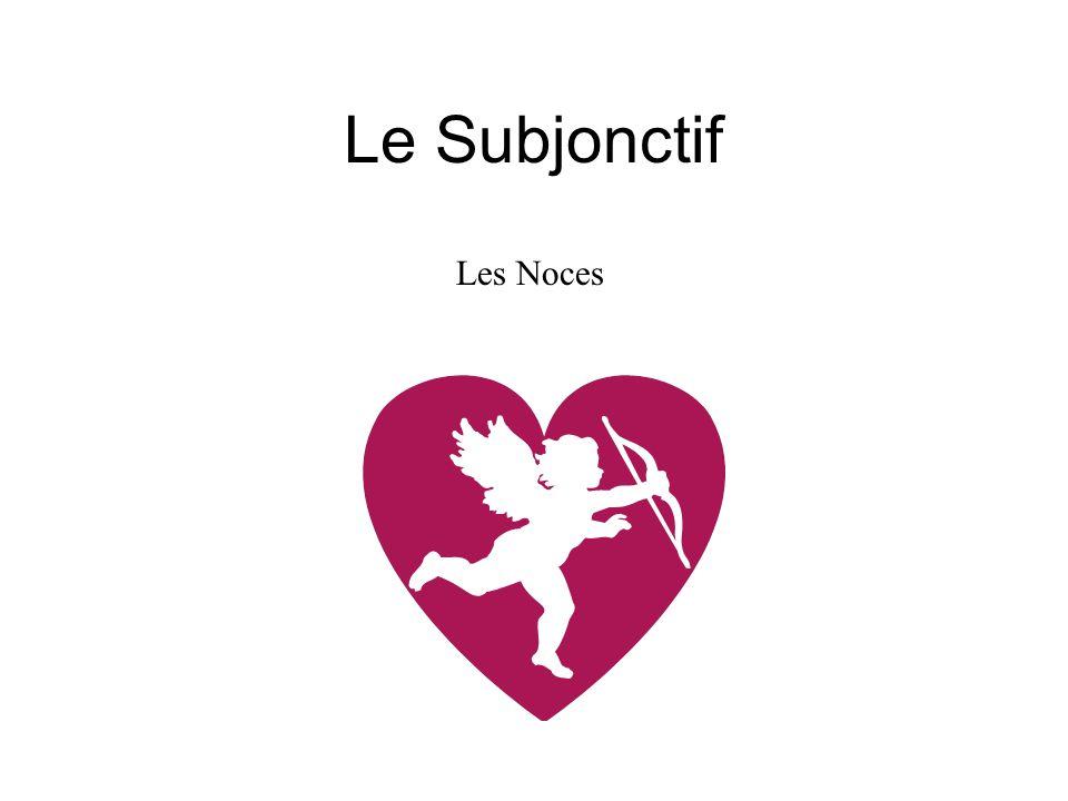 Le Subjonctif Les Noces