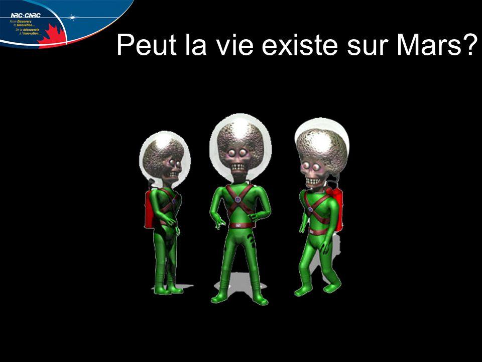 Peut la vie existe sur Mars