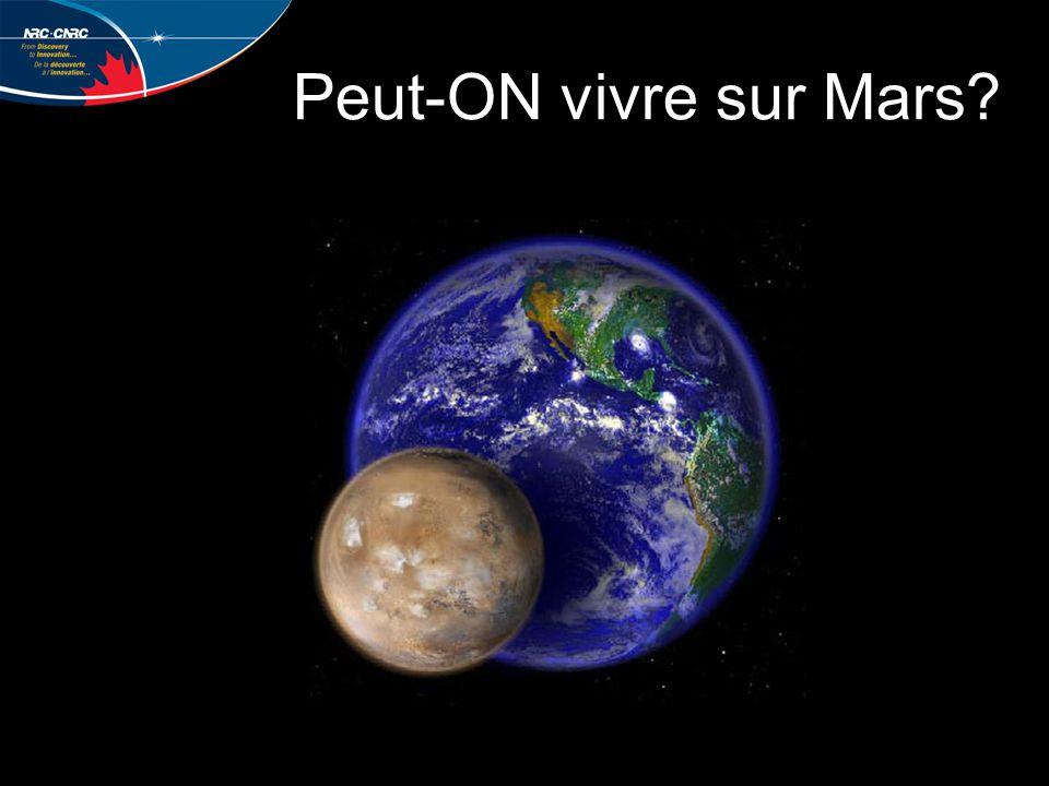 Peut-ON vivre sur Mars