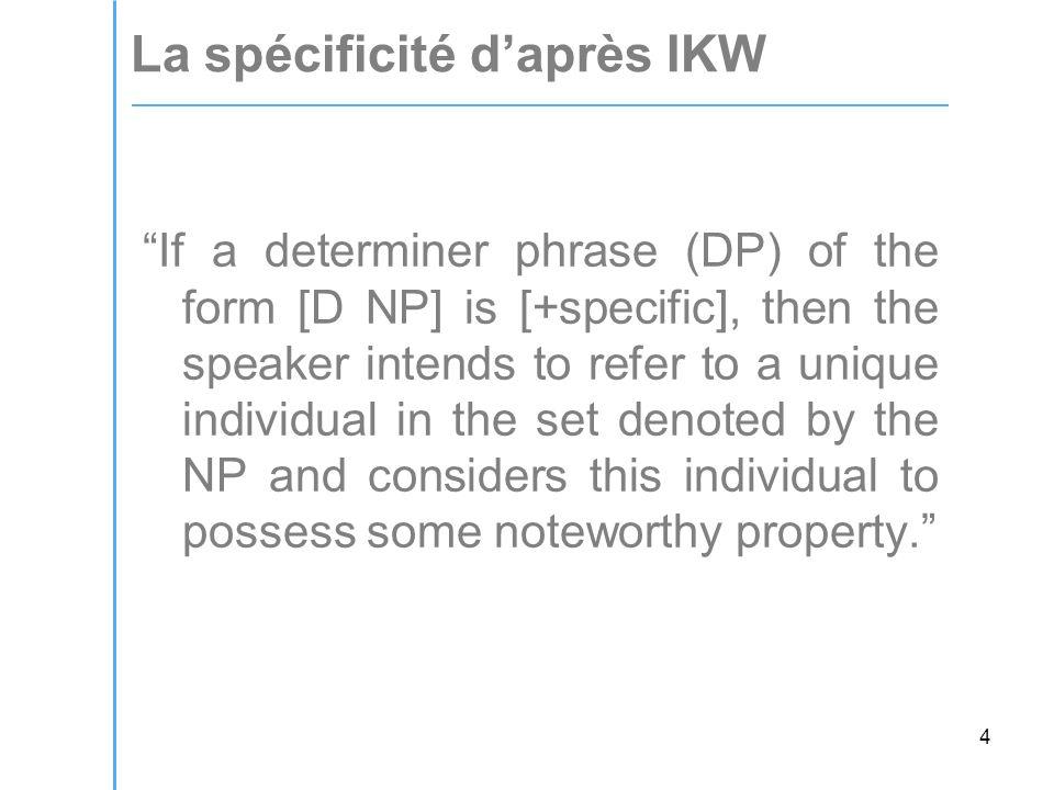 35 Les faits concernant les constructions existentielles suggèrent fortement que la 'fluctuation' dont parlent IKW n'existe pas.