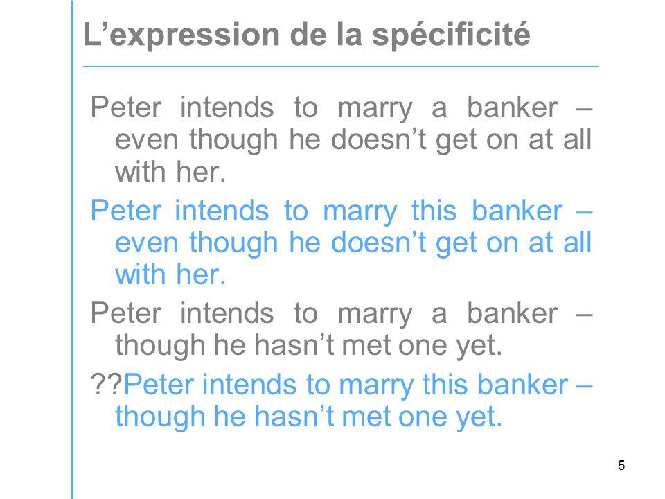 6 Marie veut épouser un banquier – mais ellel ne sait pas trop s'il l'aime vraiment.