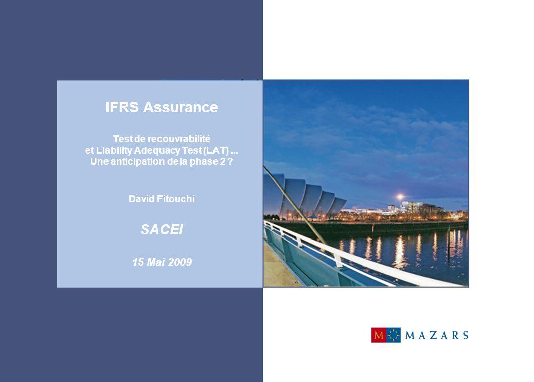 12 IFRS 4 : Phase I  4 grands principes de la Phase 1  Classification des contrats Applicable depuis le 1er janvier 2005, la phase I est une phase transitoire dont l'enjeu principal repose sur une classification des contrats répartis en contrats d'assurance, contrats d'investissement avec PB discrétionnaire et contrats d'investissement sans PB discrétionnaire.