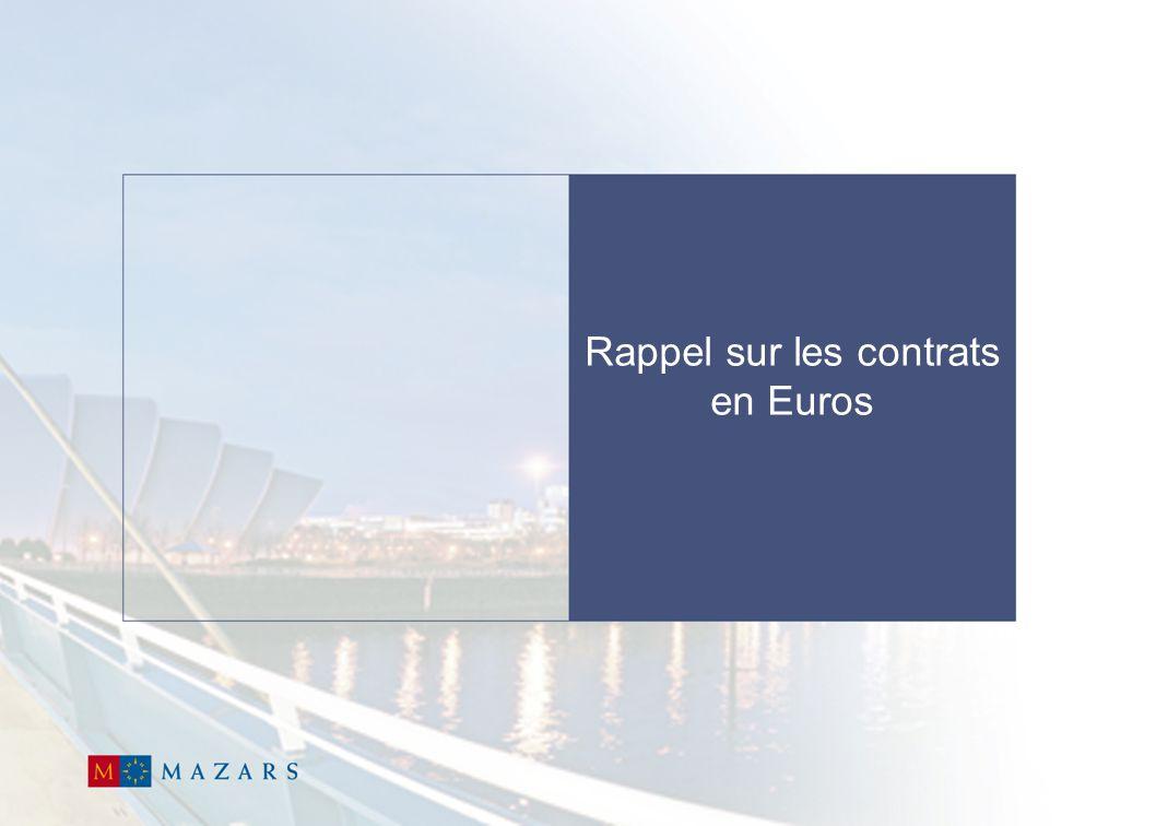 5 Les contrats à supports euros  Il existe deux principaux types de contrats d'épargne :  Le contrat en Euros  Le contrat en Unités de Compte  Les contrats en Euros se caractérisent par :  Des primes et des garanties exprimées en Euros.