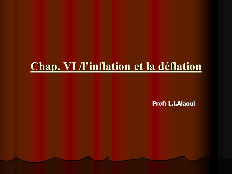 Chap. VI /l'inflation et la déflation Prof: L.l.Alaoui